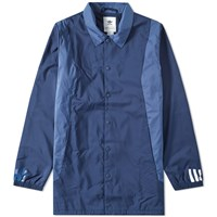 Adidas X White Mountaineering Long Coach Jacket Blue