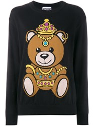 Moschino Teddy Intarsia Jumper Black