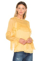 See By Chloe Tied Waist Long Sleeve Blouse Yellow