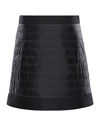 Moncler Quilted Skirt W Wool Trim Size 8 14 Black
