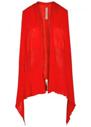 Rick Owens Red Cotton Gilet