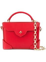 Manu Atelier Micro Bold Combo Shoulder Bag Red