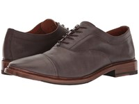 Frye Paul Bal Oxford Grey Pressed Full Grain Men's Shoes Brown