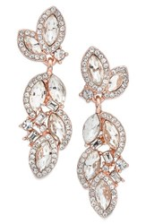 Nina Women's Romantic Crystal Drop Earrings Crystal Rose Gold