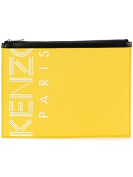 Kenzo Sport A4 Pouch Bag Yellow And Orange
