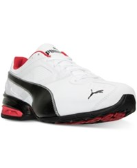 Puma Men's Tazon 6 Running Sneakers From Finish Line White Black Silver Red