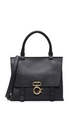 Derek Lam Mini Ave A Top Handle Cross Body Bag Black
