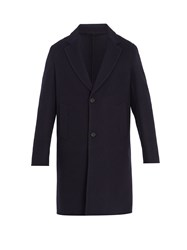 Berluti Notch Lapel Wool Coat Navy