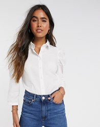 Y.A.S Shirt With Puff Sleeves In White