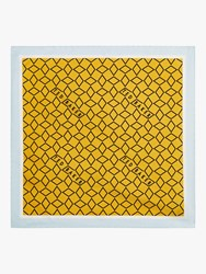 Ted Baker Culver Geo Print Silk Pocket Square Yellow