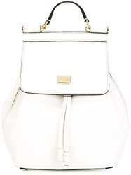 Dolce And Gabbana 'Sicily' Backpack White