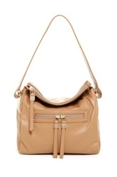 Sondra Roberts Nappa Leather Shoulder Bag Brown