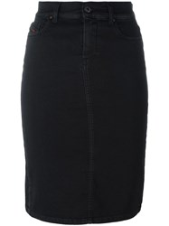 Diesel Denim Pencil Skirt Black