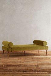 Anthropologie Velvet Darcy Daybed Chartreuse