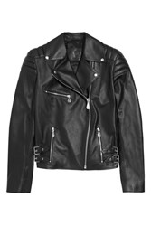 Mcq By Alexander Mcqueen Quilted Leather Biker Jacket Black