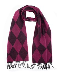 Dents Women S Woven Harlequin Scarf Hot Pink