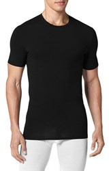 Men's Tommy John 'Second Skin' Crewneck Undershirt Black