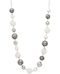 Styleandco. Style And Co. Hematite Tone Wire Bead Long Necklace Only At Macy's
