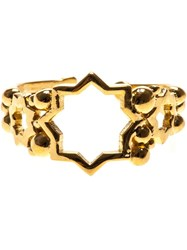 Leivankash Cut Out Star Open Ring Metallic
