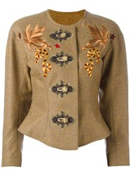 Christian Lacroix Vintage Embroidered Jacket Brown
