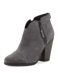 Rag And Bone Margot Nubuck Leather Ankle Boot Charcoal Charcoal Nubuk