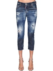 Dsquared Cool Girl Denim Cropped Jeans Blue