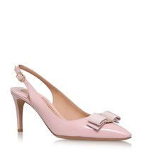 Salvatore Ferragamo Erina Patent Leather Slingbacks Female Pink
