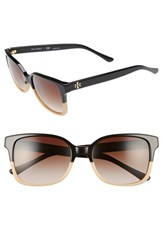 Tory Burch Women's 54Mm Sunglasses Black Tan Black Tan