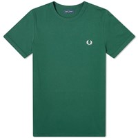 Fred Perry Authentic Taped Side Tee Green