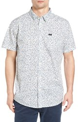 Rvca Men's Clearwater Trim Fit Woven Shirt White