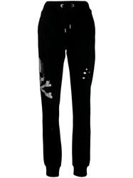 Philipp Plein Skull Track Trousers Black