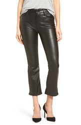 Mother Women's The Insider Faux Leather Crop Bootcut Pants