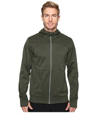 The North Face Ampere Full Zip Hoodie Climbing Ivy Green Duck Green Men's Sweatshirt Olive