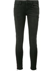 Etienne Marcel Side Zip Detail Jeans Black