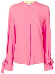Paul Smith Ps Long Sleeve Blouse Pink