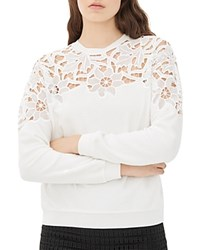 Sandro Tango Embroidered Sweatshirt Ecru