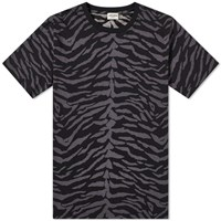 Saint Laurent Zebra Print Tee Black