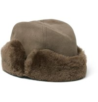 Lock And Co Hatters Vermont Shearling Hat Brown