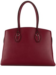 Tod's Central Pouch Tote Red
