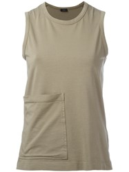 Joseph Pocket Detail Tank Top Women Cotton Spandex Elastane Xs Green