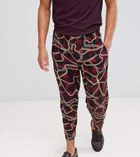 Reclaimed Vintage Inspired Relaxed Cropped Check Trouser