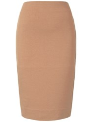 Winser London Miracle Pencil Skirt Camel