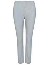 Phase Eight Nora Tapered Linen Cotton Trousers Slate Grey