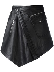 Diesel Black Gold Asymmetric Wrap Skirt Black
