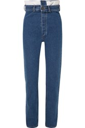 Y Project High Rise Straight Leg Jeans Mid Denim