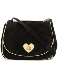 Moschino Cheap And Chic Heart Twist Lock Bag Black