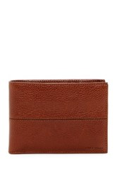 Cole Haan Pebbled Leather Bifold With Removable Passcase Brown