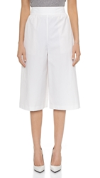Alice Olivia High Waisted Gaucho Pants Optic White