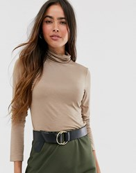 French Connection Roll Neck Brown