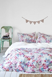 Plum And Bow Aria Floral Duvet Cover Multi